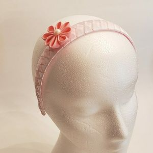 Other - Headband girl diadem in pink with flower and pearl